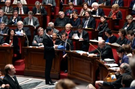 Le Premier ministre Manuel Valls devant les députés à l'Assemblée Nationale, le 19 janvier 2015 AFP ALAIN JOCARD