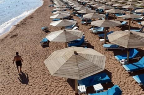 Une plage déserte à Sharm El-Sheikh  en Egypte, le 10 novembre 2015 AFP Mohamed el-Shahed