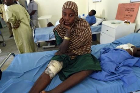 Une rescapée d'une attaque de Boko Haram dans un hôpital à Maiduguri, le 4 février 2016. Crédit photo: AFP/Pius Utomi Ekpei