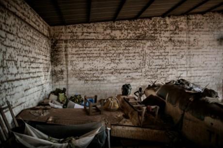 Le camp de déplacés de M'poko de l'aéroport de Bangui, le 7 décembre 2015. Crédit photo: AFP/Marco Longari