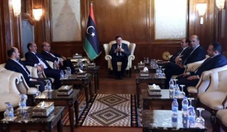 Le gouvernement libyen d'union nationale, le 11 juillet 2016 à Tripoli. AFP/Mahmud Turkia