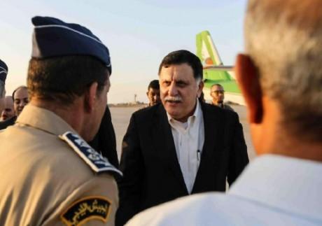 Le Premier ministre libyen Fayez al-Sarraj à Misrata, le 1er août 2016. GNA/AFP Stringer