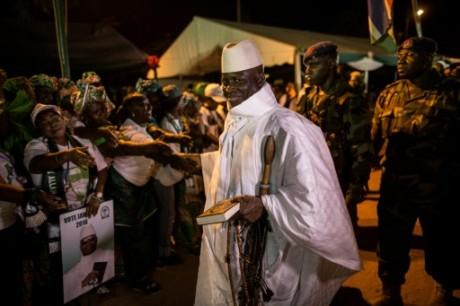 Le président gambien Yahya Jammeh le 24 novembre 2016 à Brikama. AFP/Marco Longari