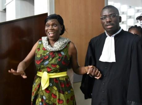 Simone Gbagbo, le 10 octobre au tribunal d'Abidjan. AFP/Sia Kambou