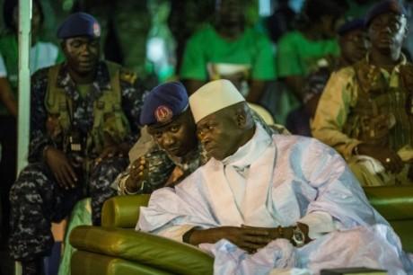 L'actuel président gambien Yahya Jammeh à Banjul le 29 novembre 2016  AFP MARCO LONGARI