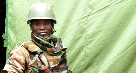 Soldat de l'armée centrafricaine (mai 2017). Saber Jendoubi/DR