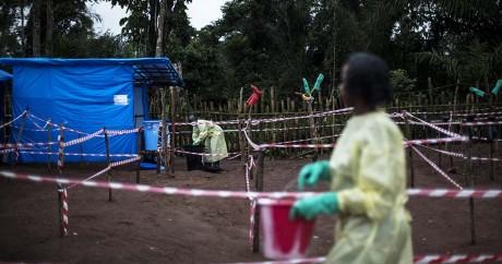 Un centre de quarantaine pour entraver l'avancée du virus à Muma dans l'est du Congo, le 13 juin 2017. JOHN WESSELS / AFP