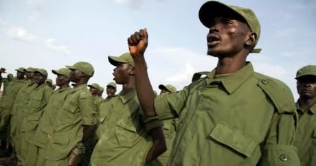 Des membres de l'Armée de libération du Soudan du Sud. 28 mars 2016. Juba. Albert Gonzalez Farran / AFP