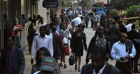 Le quartier d'affaires de Nairobi, le 30 septembre 2014. SIMON MAINA / AFP