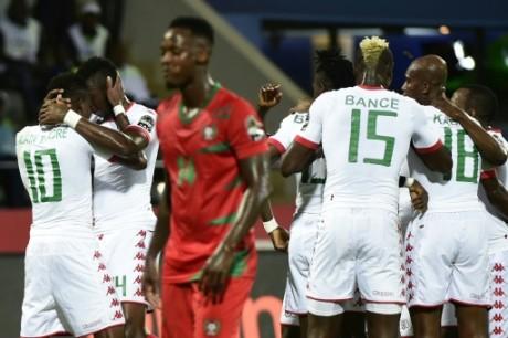Le Burkina Faso a battu la Guinée Bissau le 22 ja vier 2017 au Gabon. Khaled Desouki/AFP