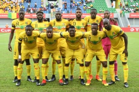 L'équipe du Mali face au Ghana le 21 janvier 2017 à Port-Gentil. AFP/Justin Tallis