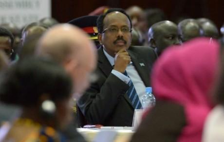 Le président somalien Mohamed Abdullahi Mohamed le 25 mars 2017 au Kenya à Nairobi AFP/Archives SIMON MAINA