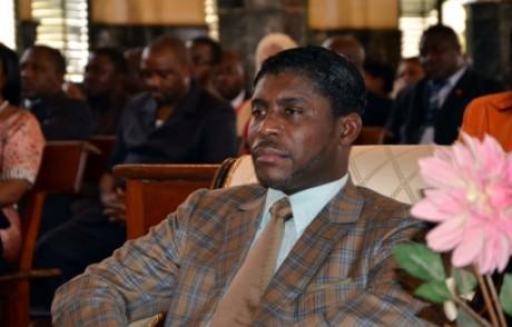 Le vice-président de Guinée équatoriale Teodorin Obiang le 25 juin 2013 à Malabo AFP/Archives JEROME LEROY