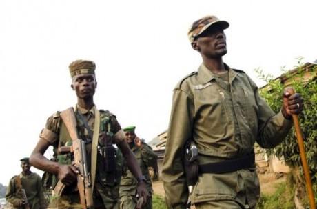 Des éléments du M23, RDC, mars 2013. © AFP