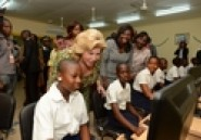 Man / Collège Dominique Ouattara : Children of Africa offre une salle multimédia et une bibliothèque (Le Patriote)