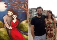Elle épouse l'homme de ses rêves qu'elle a imaginé dans ses peintures