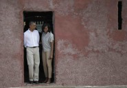 Barack et Michelle Obama à la Maison des esclaves de Gorée