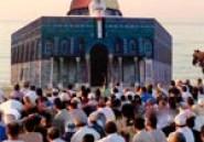 Une représentation de la mosquée Al Aqsa à la prière de l'aid de Hammamet