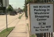 USA: Une pancarte interdit aux musulmans de se garer au parking