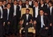 Image du jour : Lavezzi sur le trône du Pape François