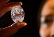 Un diamant blanc gros comme un oeuf de poule aux enchères