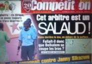 """""""Cet arbitre est un salaud"""", la Une """"irritée"""" d'un journal algérien"""