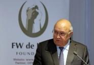Afrique du Sud: l'ex-président De Klerk accuse l'ANC de discrimination