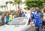 Joueur africain 2015: Aubameyang accueilli en héros