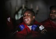 Afrique du Sud: l'opposant Malema appelle