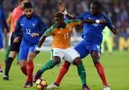 Foot: match nul 0-0 entre la France et la Côte d'Ivoire