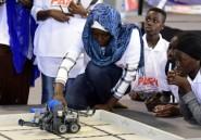 Concours de robotique: les jeunes filles d'Afrique de l'Ouest