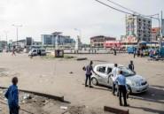 """""""Ville morte"""" en RD Congo: Kinshasa au ralenti, restrictions sur les réseaux sociaux"""