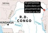 RDC: 40 morts dans un glissement de terrain