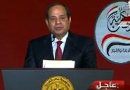 Le président égyptien Sissi candidat