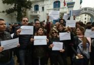 """""""Journée de colère"""" des journalistes tunisiens après des menaces"""