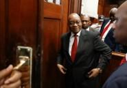 """Afrique du Sud: l'ex-président Zuma dénonce les accusations """"politiques"""" lancées contre lui"""