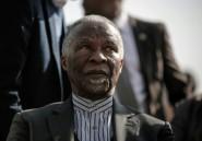 """Afrique du Sud: l'ex-président Mbeki accuse l'ANC d'être un """"parti de Noirs"""""""