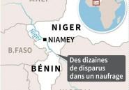 Frontière Niger-Benin: plus de 40 disparus dans un naufrage sur le Niger