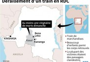 Accident de train en RDC: 32 morts et 91 blessés