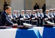 """Hommage national aux deux militaires tombés """"en héros"""" au Burkina"""