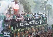 Les champions d'Afrique acclamés par une immense foule