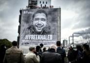 #FreeKhaled: RSF dévoile une bâche géante