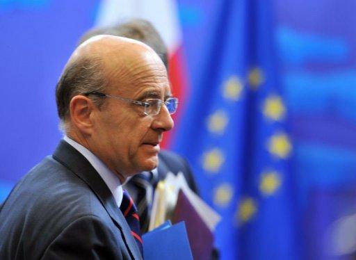 Le ministre des Affaires étrangères Alain Juppé, le 18 juillet 2011 à Bruxelles AFP Georges Gobet