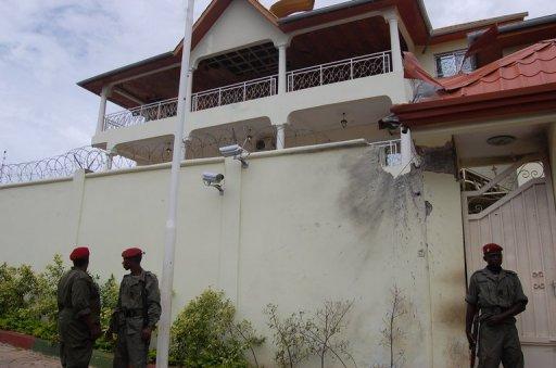 Le domicile du président Alpha Condé à Conakry, le 19 juillet 2011. AFP/Archives Cellou Diallo