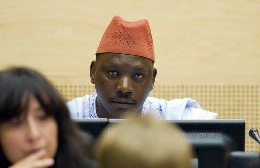 L'ancien chef de milice de République démocratique du Congo (RDC) Thomas Lubanga, lors de son procès, le 8 octobre 2011 à La Haye AFP/Archives Marcel Antonisse