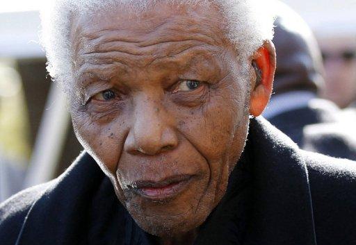 Nelson Mandela, le 17 juin 2010 à Johannesbourg AFP Siphiwe Sibeko
