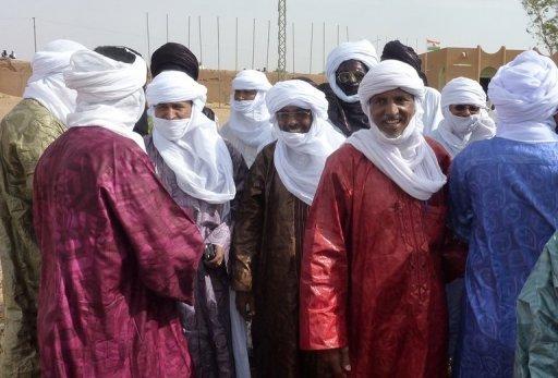 Des Touaregs, combattants de Kadhafi, le 22 juillet 2011 à Agadez (Niger) AFP Boureima Hama