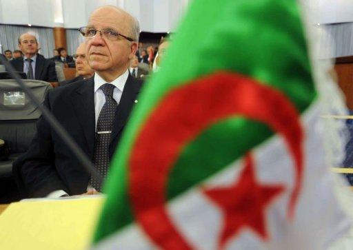 Le ministre algérien des Affaires étrangèrs, Mourad Medelci, le 7 septembre 2011 à Alger, lors de la conférence sur le Sahel AFP Farouk Batiche