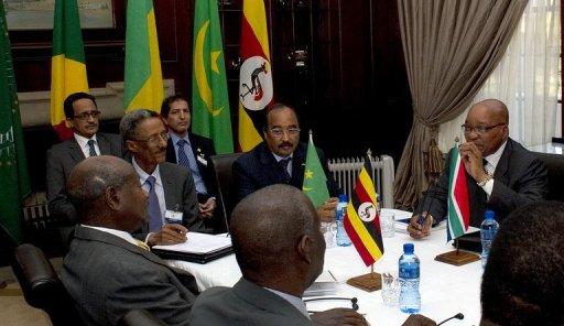 Table ronde de l'UA consacrée à la Libye, le 26 juin 2011 à Pretoria AFP/Archives Alexander Joe