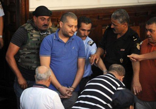 Le neveu de l'épouse du président déchu Ben Ali, Imed Trabelsi le 10 août 2011 au tribunal de Tunis AFP/Archives Fethi Belaid